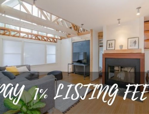 Pay a 1% listing fee when you sell & buy